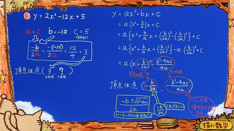 二次関数,頂点の座標11