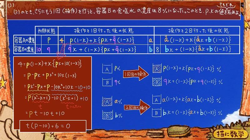 灘高校,数学.食塩水.濃度,難問11