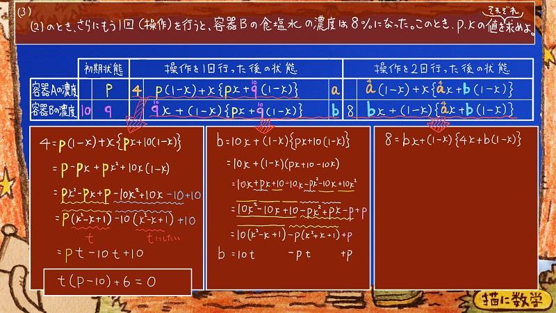 灘高校,数学.食塩水.濃度,難問12